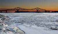 Tappan Zee Bridge & Frozen Hudson: 2014