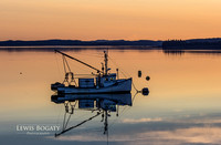 Lubec Harbor At Sunset